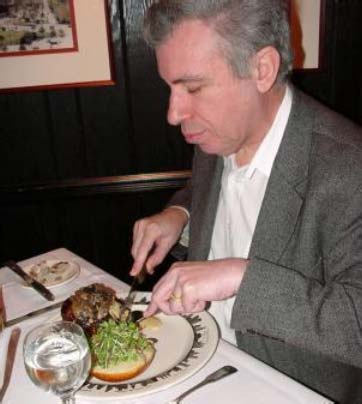 David Levy eating at a restaurant with the ring fenced backer funds