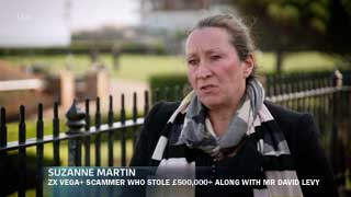 Scammer Suzanne Martin appearing on ITV show Tonight, ironically in a segment about a scammer