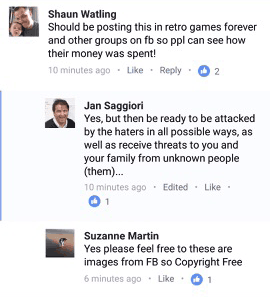 Suzanne Martin claims the images she posted of Paul Andrews are copyright free