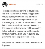 ZXDunny claims Paul Andrews leaking on twitter and redacting payments
