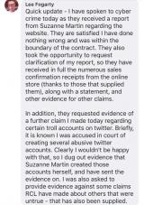 Lee Fogarty claims Suzanne Martin has reported him to cyber crimes