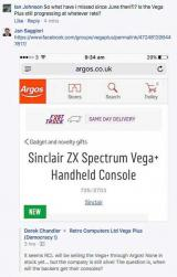 Jan Saggiori boasts that the Vega+ will be sold at Argos