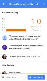RCL Google Maps reviews summary (before RCL deleted it)