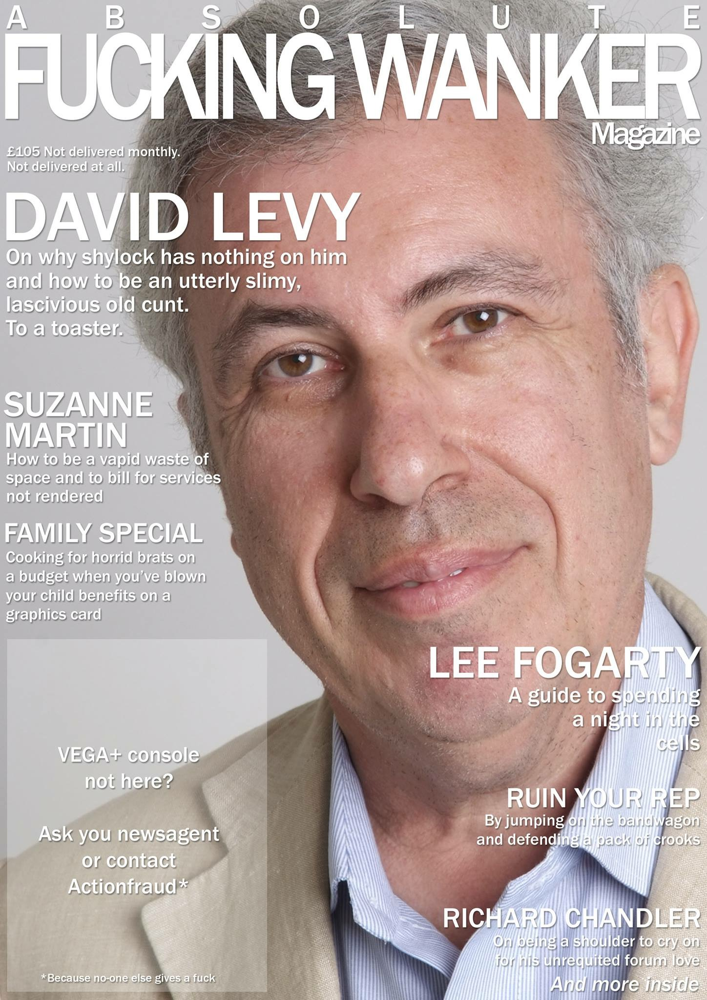 David Levy on the cover of AFW magazine